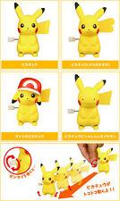 TOMY Pokemon XY&Z Tokotoko Pikachu Wind up Action Figure gashapon capsules