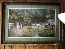 """Billy Nipper signed print Artist proof #53/100 """"Tranquility""""  framed"""