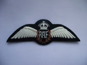 WW2 British ROYAL AIR FORCE WINGS Patch Badge