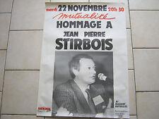 Front National, , hommage le 22/11/88 apres le décès de Jean Pierre STIRBOIS