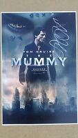 THE MUMMY TOM CRUISE SIGNED MOVIE POSTER 12x18 SOFIA BOUTELLA AHMANET AUTO PROOF