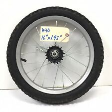 """16"""" Rear Gray Bicycle Wheel w/ Coaster Brake & 1.95"""" Tire - Mini MBX Bike #k40"""