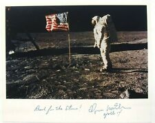 Apollo 14 Edgar Mitchell Signed Photograph Moon Surface Authenticated Zarelli