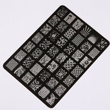 Stamping Template Large Image Stencil Stamp Plates Polish Design Nail Art Tool
