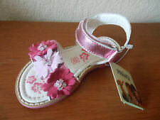 NEW Primigi Ianna Todler Girls Leather Sandals Pink Metallic sizs: 23 (6-6.5 US)