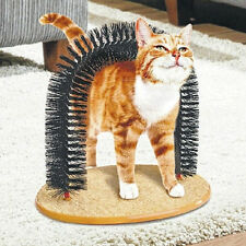 Pet Cat Toy Plastic Scratch Bristles Purrfect Arch Self-Groomer And Massager