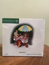 "Dept. 56 Christmas In The City ""Pretzel Cart� New!"