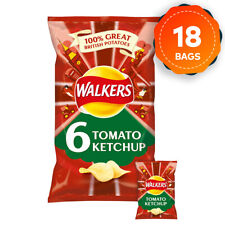 18 x Walkers Tomato Ketchup Crisps Multipack Pack of 6 x 25g