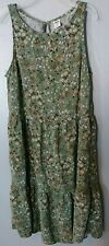 Girls Green Multicolor Old Navy Tiered Dress Size XS