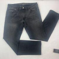 American Eagle Mens Jeans 34 x 34 Black Slim Straight Extreme Flex 4 (34 x 32)