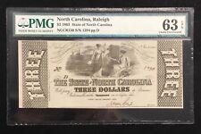 $3 1863 State Of North Carolina PMG 63 EPQ #