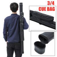 46'' 119cm 3/4 PU Leather Pool Cue Case Box Bag Snooker Rod Billiard