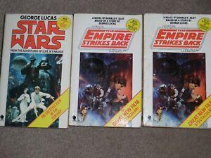 3 STAR WARS VINTAGE PAPERBACK BOOKS