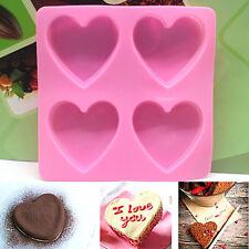 Cute Heart Silicone Fondant Mold Cake Decor Chocolate Baking Soap Ice Mould Tool
