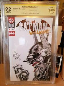 BATMAN WHO LAUGHS #1 CBCS NM- 9.2 💎 Original Sketch High Grade Key 💎