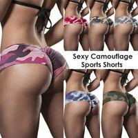 Womens High Waist Yoga Shorts Butt Lift Ruched Pants Booty Slim Leggings Fitness