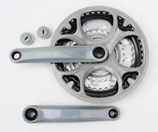 Steel Triple Chainset Chainwheel 28/38/48, 170mm cranks GREY 15/18/21 Speed