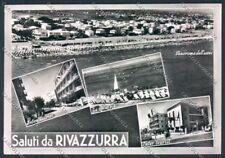 Rimini Rivazzurra Saluti da Foto FG cartolina MQ1815