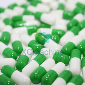 10K Colored Empty Gelatin Capsules Size 0 1 2 3# Pill Kosher Halal Separated