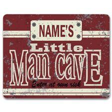 Personalizado Little Man Cave-Vintage Metal Sign | Niños Dormitorio de Arte para Decoración de pared