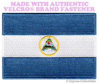 NICARAGUA FLAG PATCH EMBROIDERED SOUVENIR new PARCHE w/ VELCRO® Brand Fastener