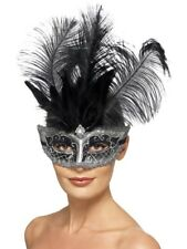 Venetian Colombina Eyemask Smiffys Fancy Dress Costume