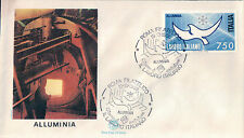 FDC ITALIA PRIMO GIORNO DI EMISSIONE 1988 ALLUMINIA LAVORO ITALIANO  7-63