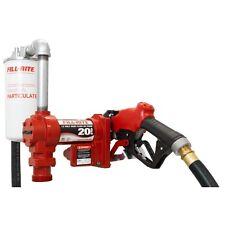 Fill Rite FR4210GBFQ 12 Volt DC High Flow Pump w/ Hose, Nozzle & Filter