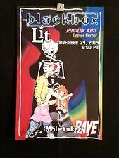 Lit, Blackbox, Riddlin Kids Milwaukee Concert Poster 11/24/04 Signed #'d Rave