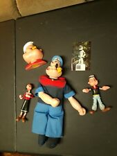 Vintage Attires Popeye Figurine& mixed Figurines of popeye & Olive Oil