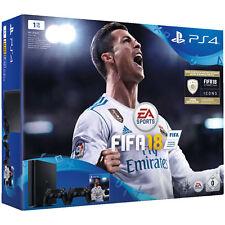 SONY PlayStation 4 1 TB Schwarz + FIFA 18 + 2. DualShock4 Controller *NEU&OVP*
