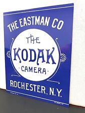 Kodak film vintage late 1800's style metal advertising sign baked