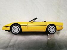 New ListingFranklin Mint 1986 Chevrolet Yellow Corvette Convertible 1:24 Scale Curio Kept
