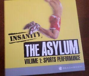 Beachbody Insanity The Asylum Volume 1 Sports Performance 6 DVD Set Workout