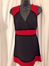 New Directions women's red & Black cocktail Dress w/ Back Cutout Size Medium