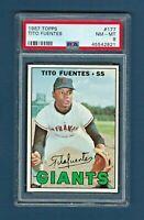 1967 Topps #177 Tito Fuentes - San Francisco Giants - NM-MT - PSA 8