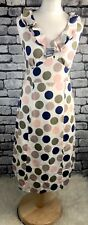 Ladies Boden Spotty Pure Cotton Dress Size 10L Tall Occasion Party Wedding Races