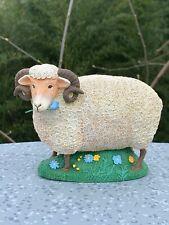 Vintage Lamb Sheep Mutton Ram Department 56 Figurine Statue Retire 5/7 ��sj8j