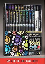Chameleon 22er Stifte-Set Deluxe Marker manga Pen Feature Pack CHACT2201 (005)