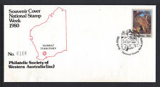 SOUVENIR COVER: 1980 NUMBAT TERRITORY W.A.   LIMITED EDITION COVER #166