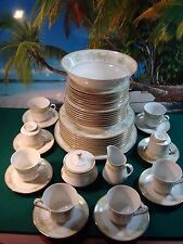 44 PIECE SET OF MIKASA FINE CHINA GREENBRIAR L2014, SERVICE FOR AT LEAST 7