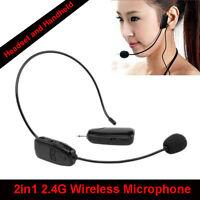 Drahtloses Headset Headworn USB-Mikrofon Earset Für Plug & Play AU mit 2,4G-Tech