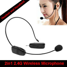 2.4G Wireless Headset Headworn USB Microphone Earset For Voice Amplifier Booster