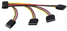 Adaptateur pour câble d'alimentation SATA (1x(m) à 4x(f) 14-18-22-22-26,5cm)