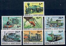 (W1121) GUINE-BISSAU, 1984, TRAINS, MI 826/32, MNH/UM, SEE SCAN