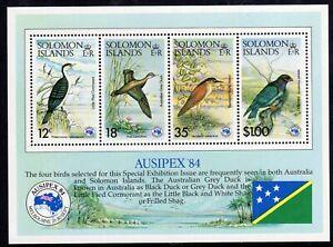 Birds - Solomon Is 1984 Ausipex min. sheet fine fresh MNH