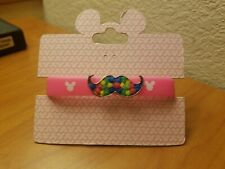 Disney Parks kids rubber Bracelet  Pink Mickey Icon  Icon new