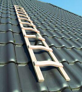 Dachleiter Holz Dachdecker auflegeleiter 2,30m