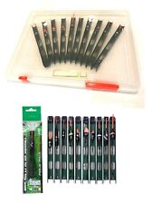 10 Ready Made Assorted Pole Floats in storage box Pole Fishing Rigs Mix 98