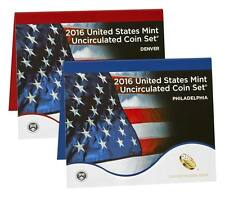 2016 US Mint Uncirculated Coin Set Both Denver And Philly Sealed Box 26 Coins